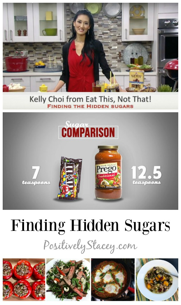 Kelly Choi is here today to help us in finding the hidden sugar in our food. It is surprising to see just how much sugar is in our food.