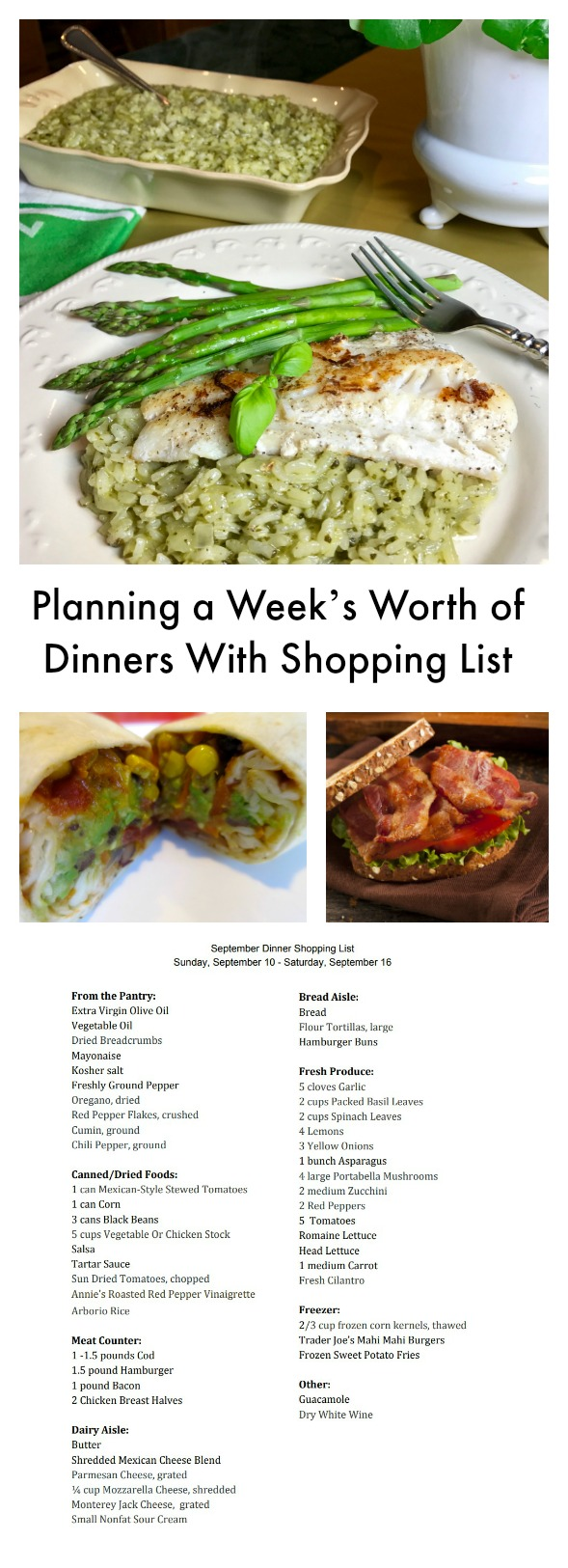 Planning a Week's Worth of Dinners With Shopping List makes your meal planning this week super easy. Many fast dinners are on the menu this week.