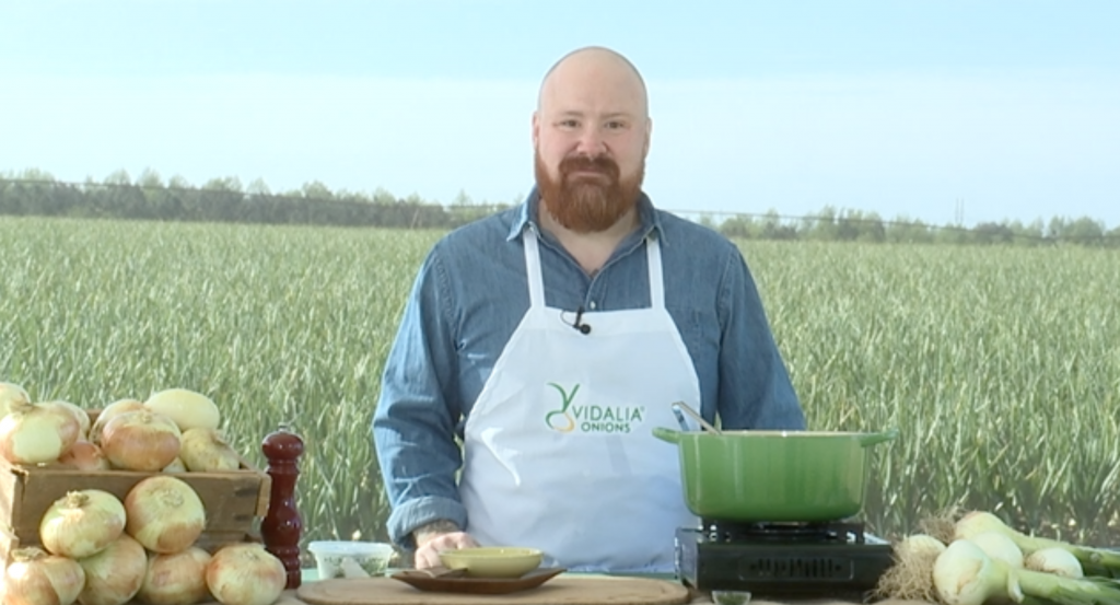 Slow Roasted Vidalia Onion Soup with Top Chef Star Kevin Gillespie