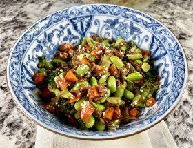 Asian Sesame-Ginger Vegetable and Grain Bowl